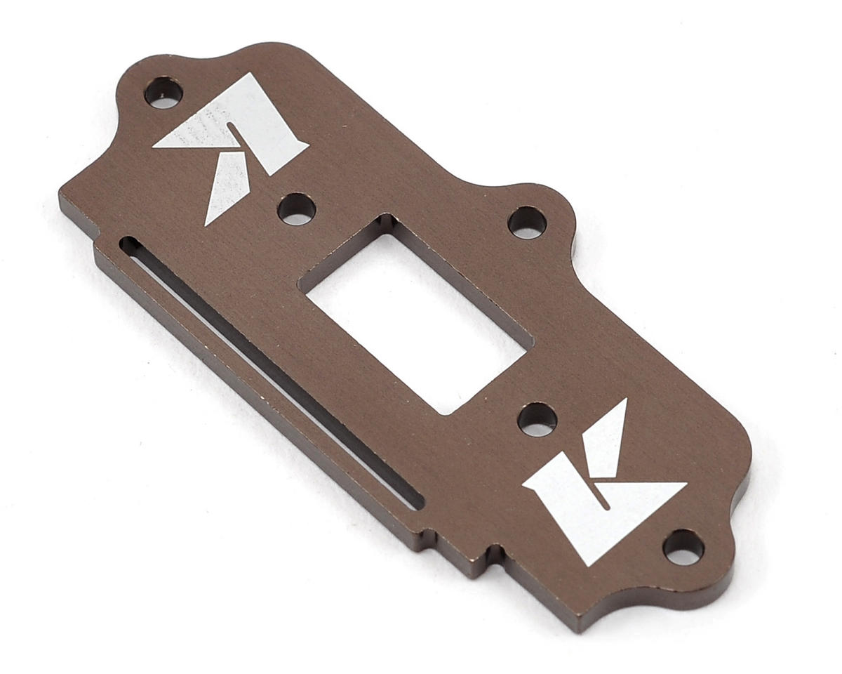Aluminum Standard Switch Plate (Gunmetal) by Kyosho