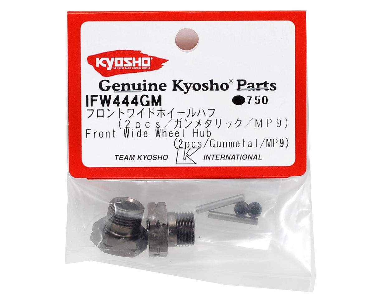 Kyosho Front Wide Wheel Hub (2) (Gunmetal)