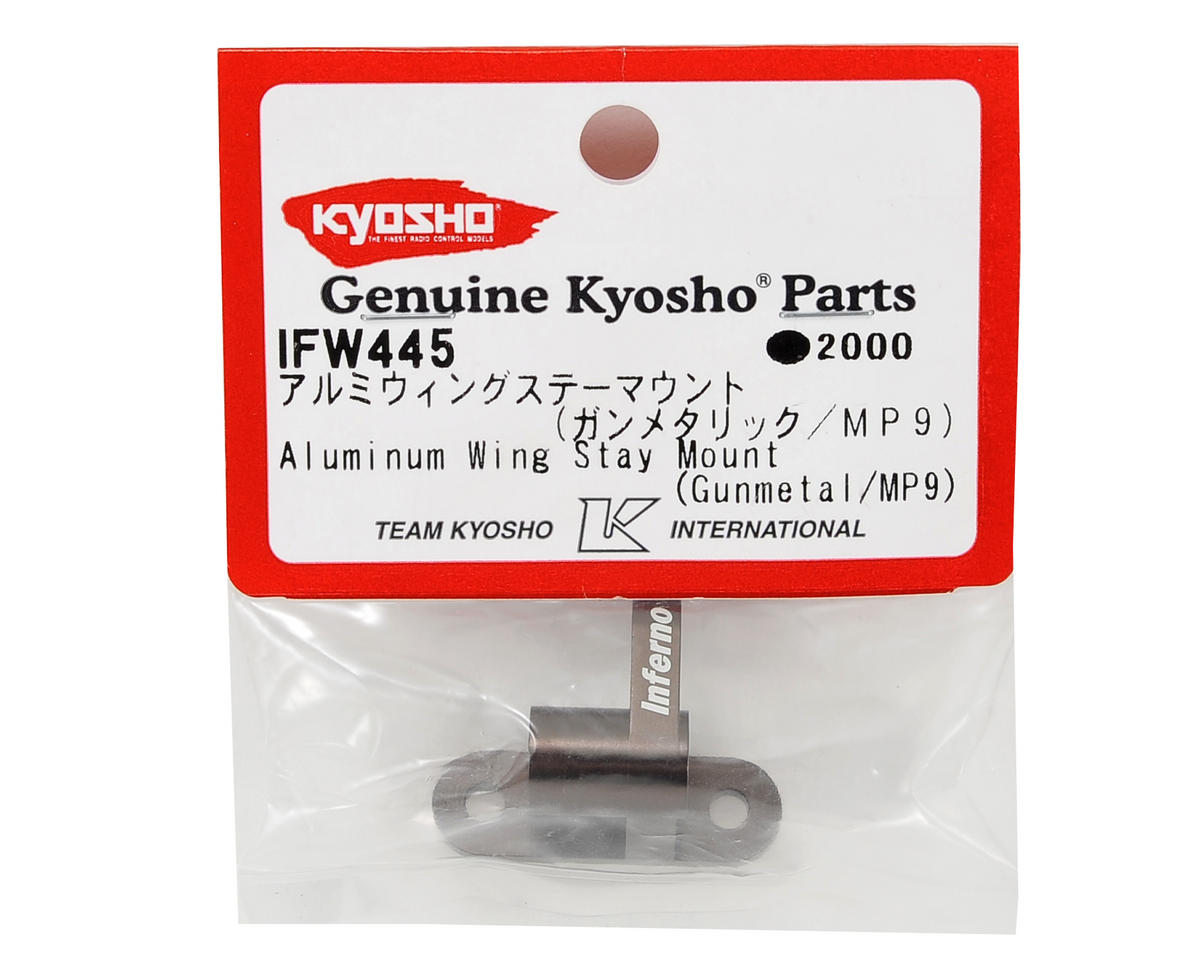 Aluminum Wing Stay Mount (Gunmetal) by Kyosho