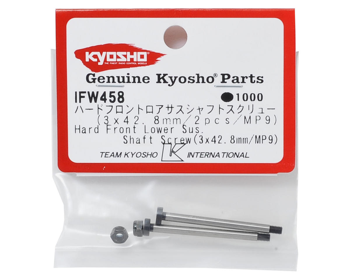 Kyosho 3x42.8mm Hard Front Lower Suspension Shaft Screw (2)