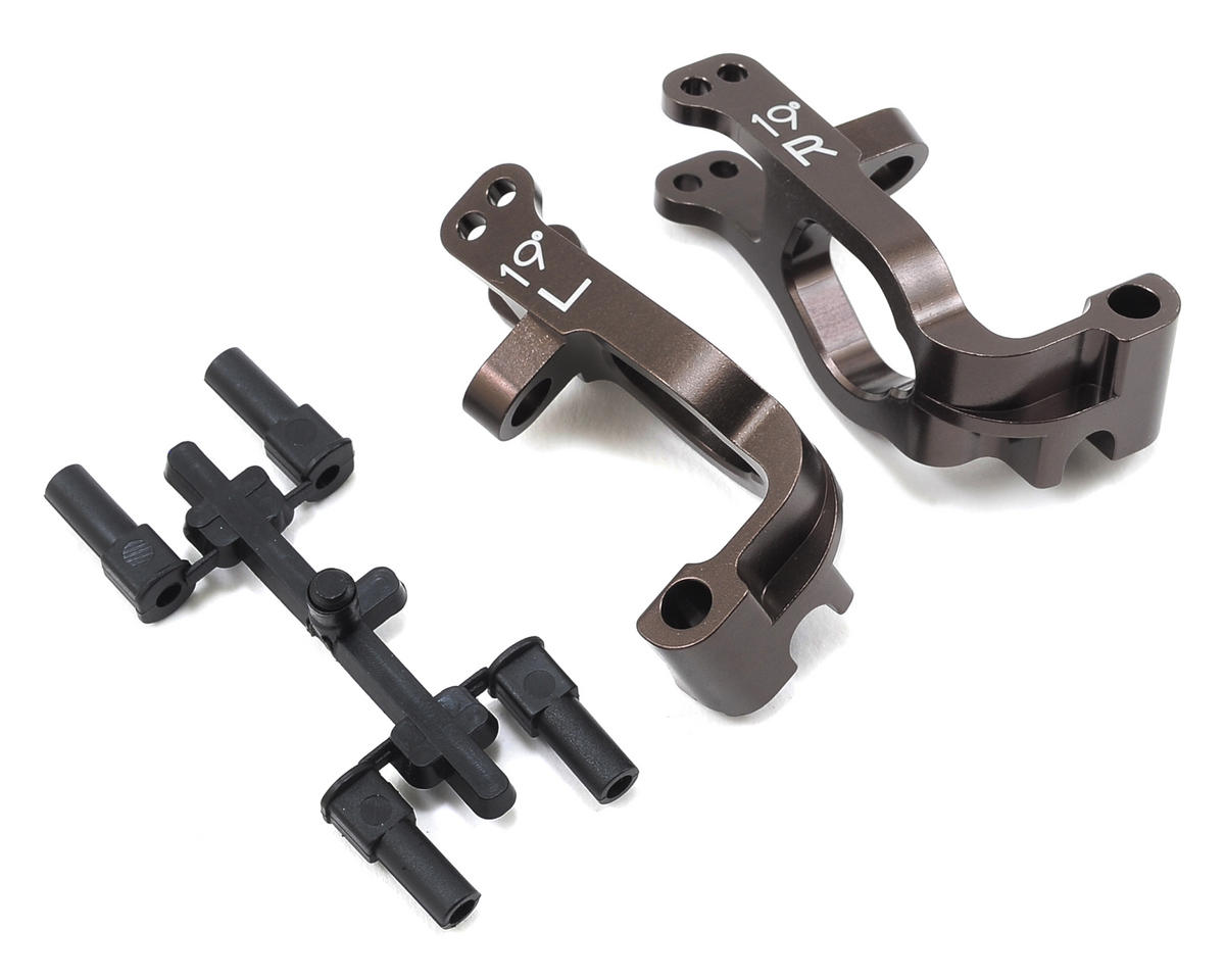 Kyosho Inferno MP9e Aluminum Front Hub Carrier Set (19°)