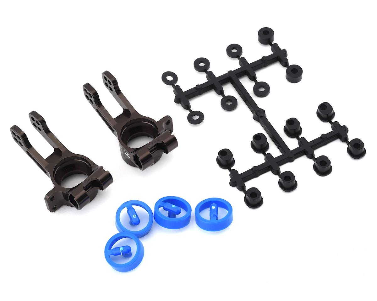 Kyosho MP10 Aluminum Rear Hub Carrier (Gunmetal) (2)