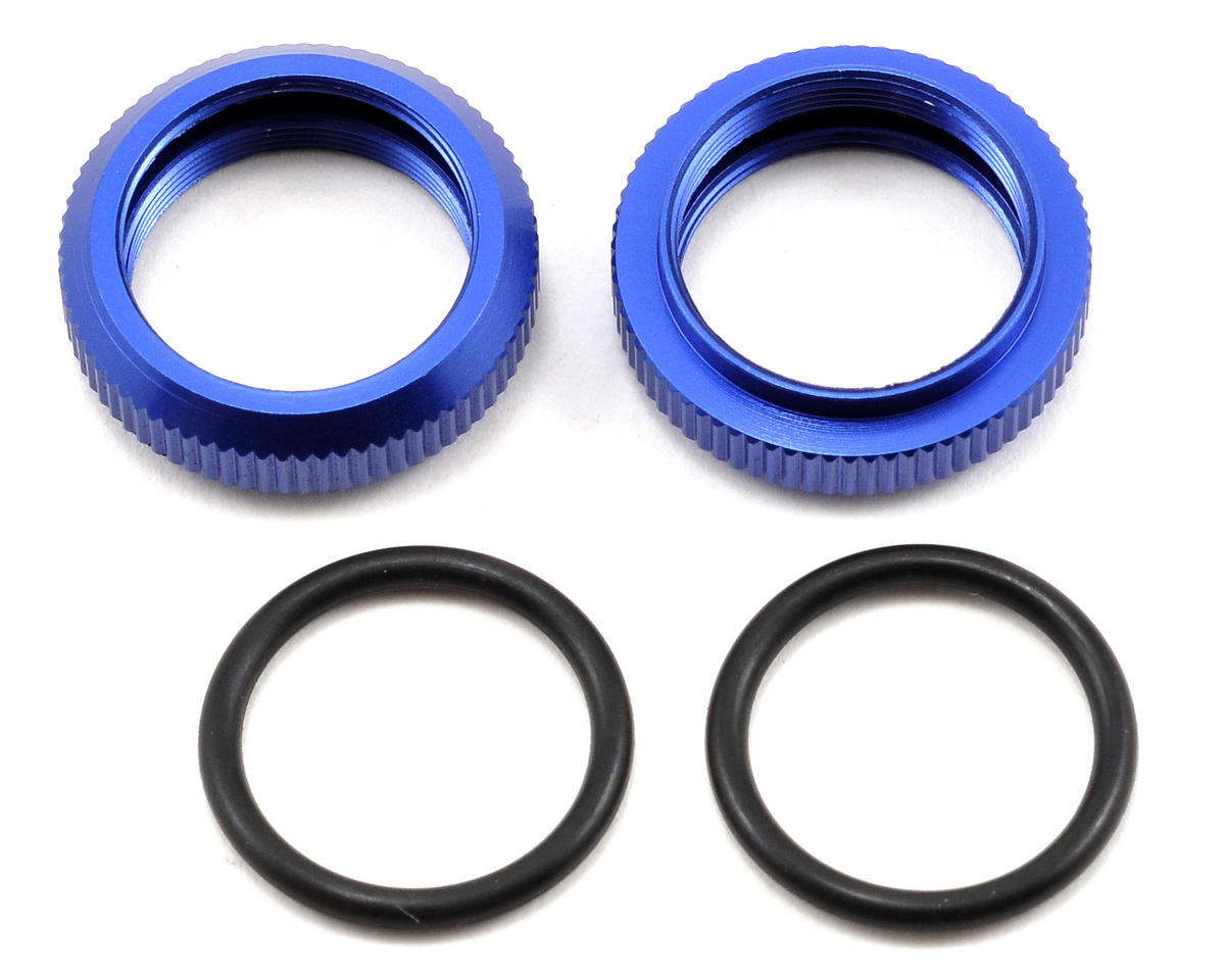 Kyosho Spring Pre-Load Collar Set (Blue) (2)