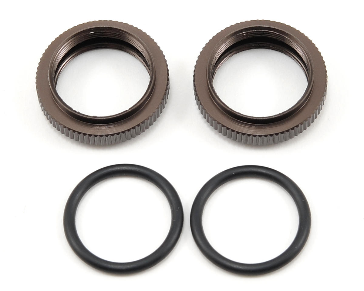 Kyosho Big Bore Shock Spring Pre-Load Collar Set (Gunmetal) (2)