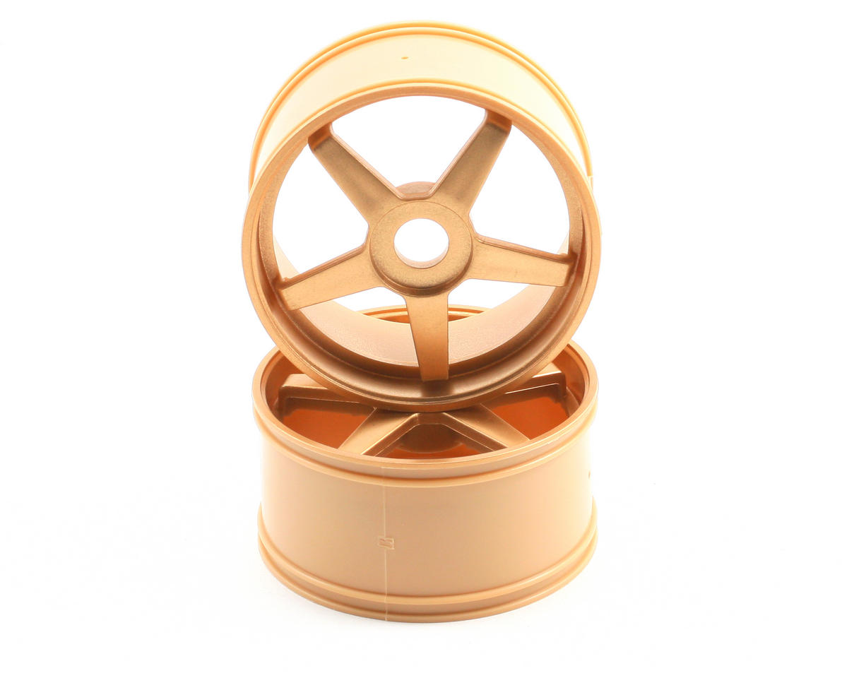 17mm Hex Inferno GT 5-Spoke Wheel Set (2) (Gold) by Kyosho