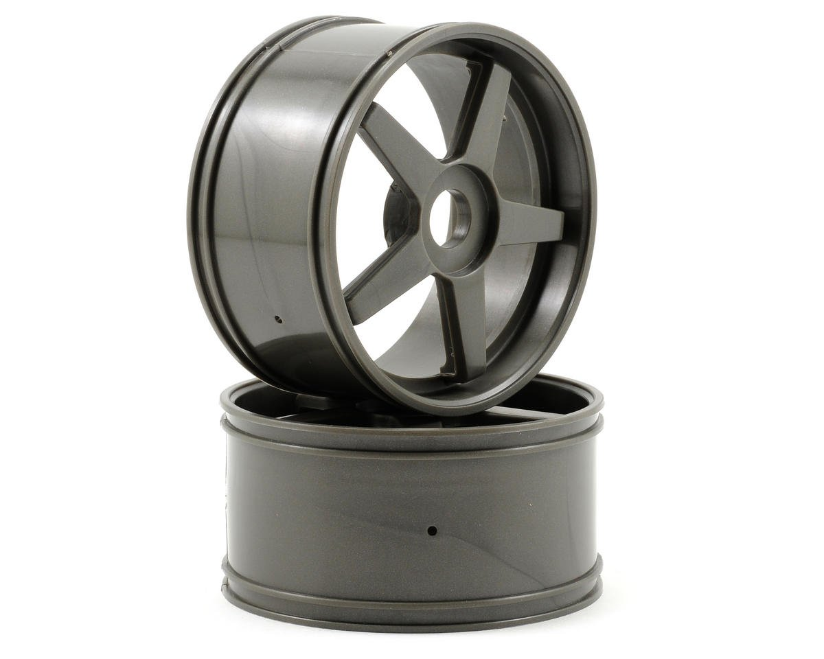 17mm Hex Inferno GT 5-Spoke Wheel Set (2) (Gun Metal) by Kyosho