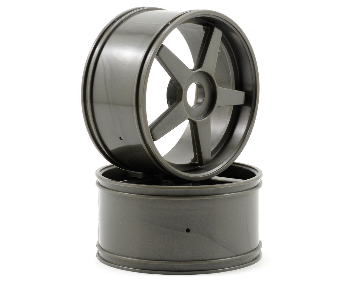 Kyosho 17mm Hex Inferno GT 5-Spoke Wheel Set (2) (Gun Metal)