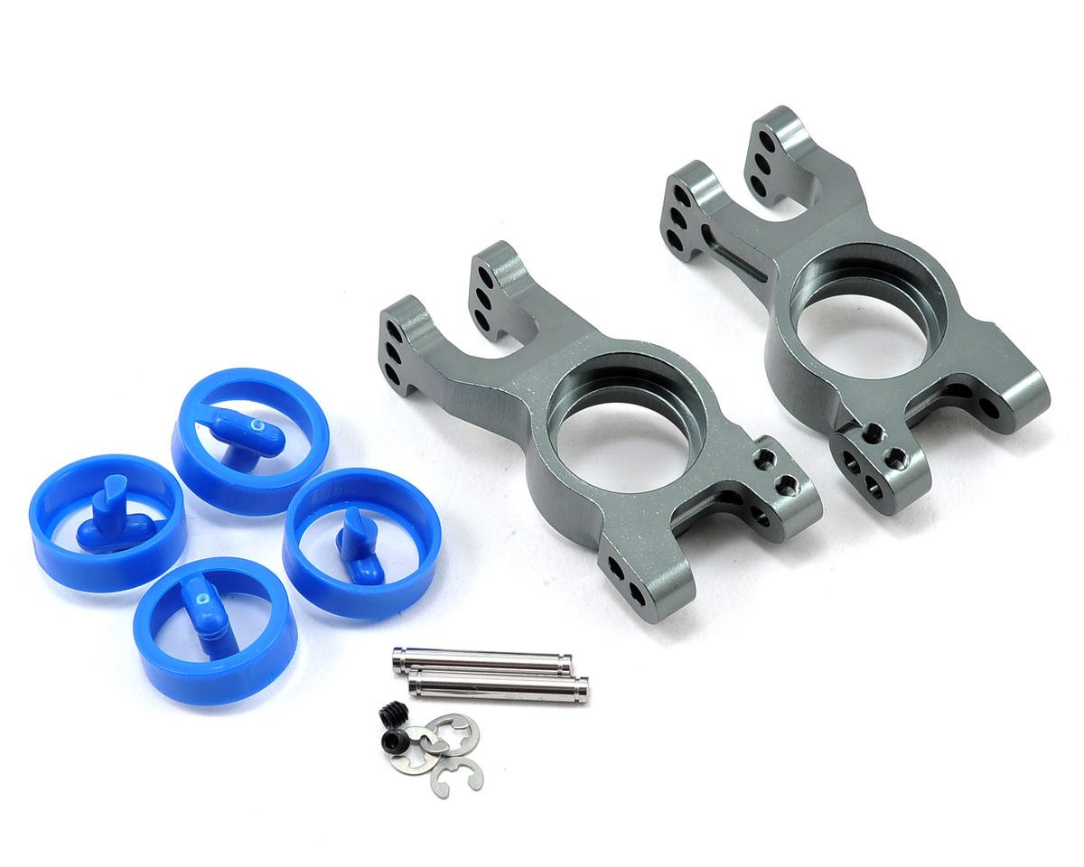 Kyosho Inferno MP7.5 Aluminum Rear Hub Carrier Set (Gun Metal)