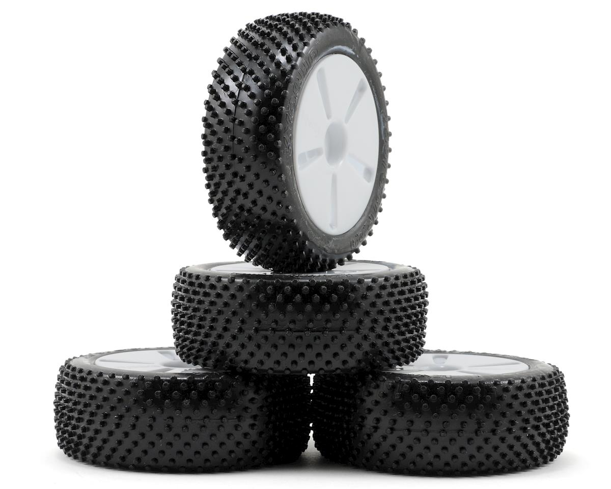 Kyosho Tire With White Wheel (Mini Inferno) (4)