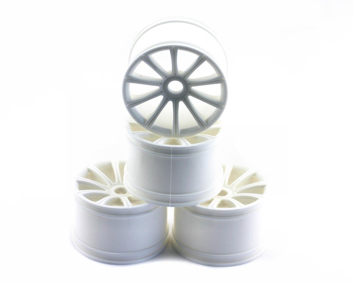 Kyosho 17mm Standard Offset Ten Spoke Monster Truck Wheels (ST-R) (4) (White) (HPI Racing Savage)