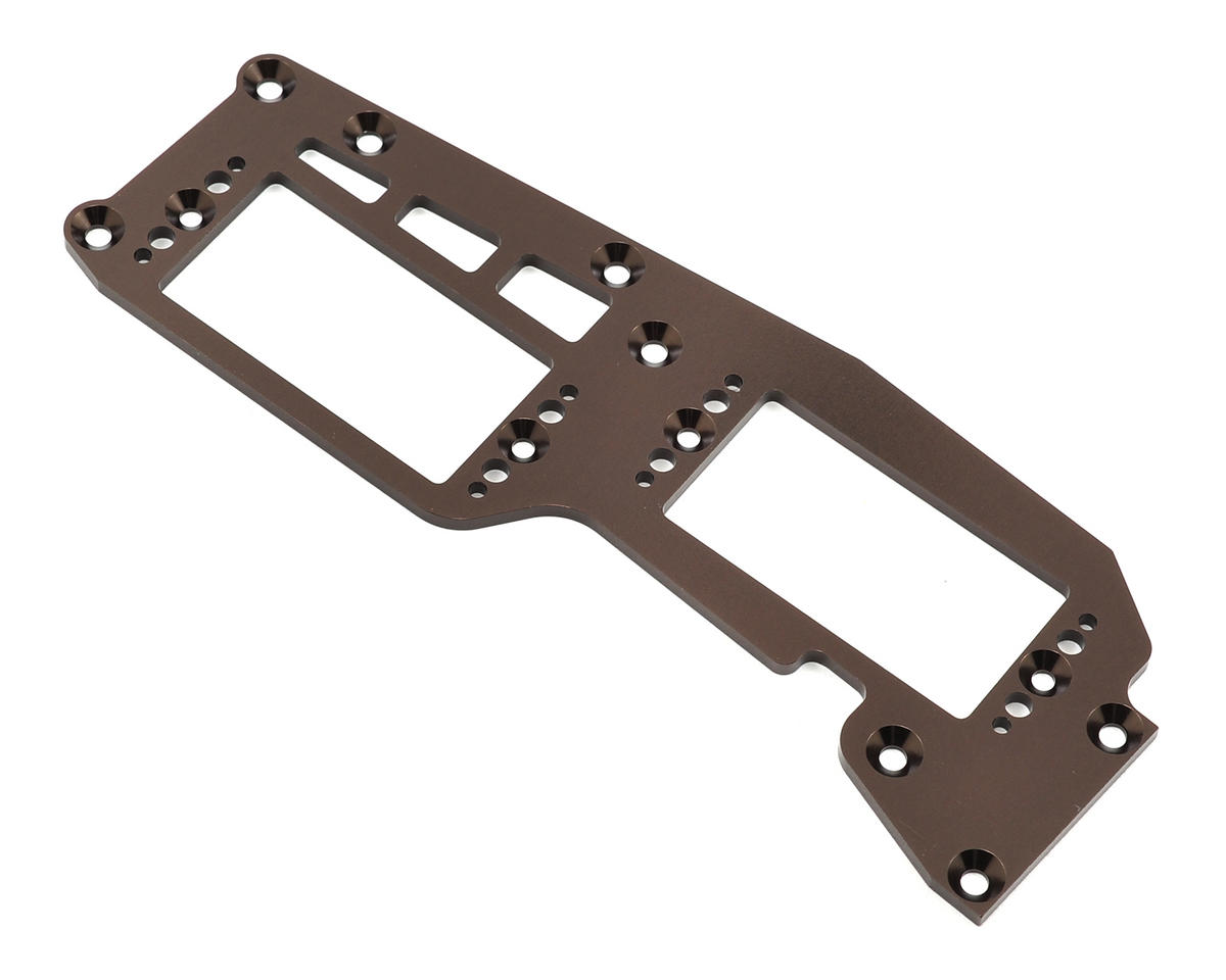 Forward Battery Radio Plate (Gun Metal) by Kyosho