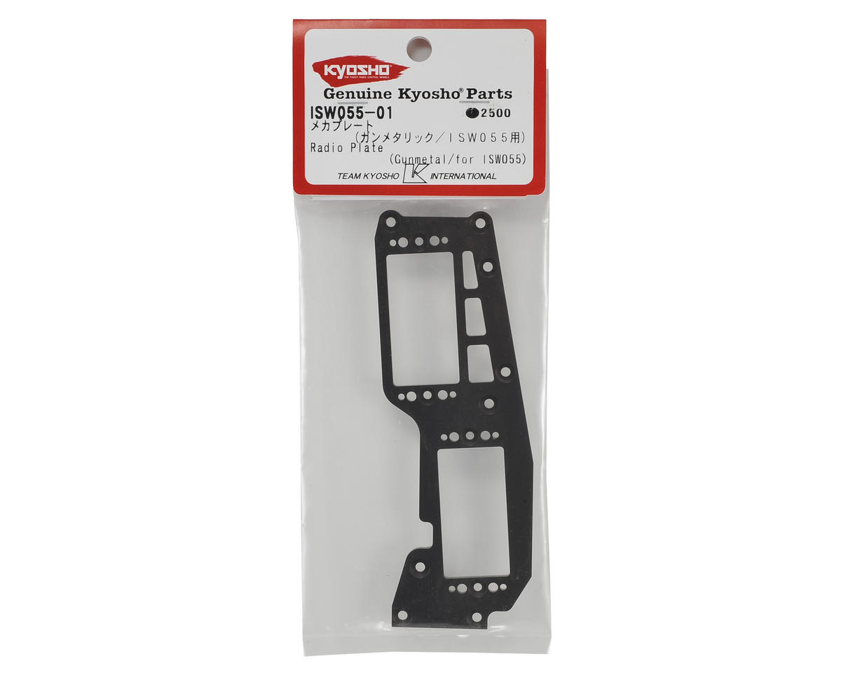 Kyosho Forward Battery Radio Plate (Gun Metal)