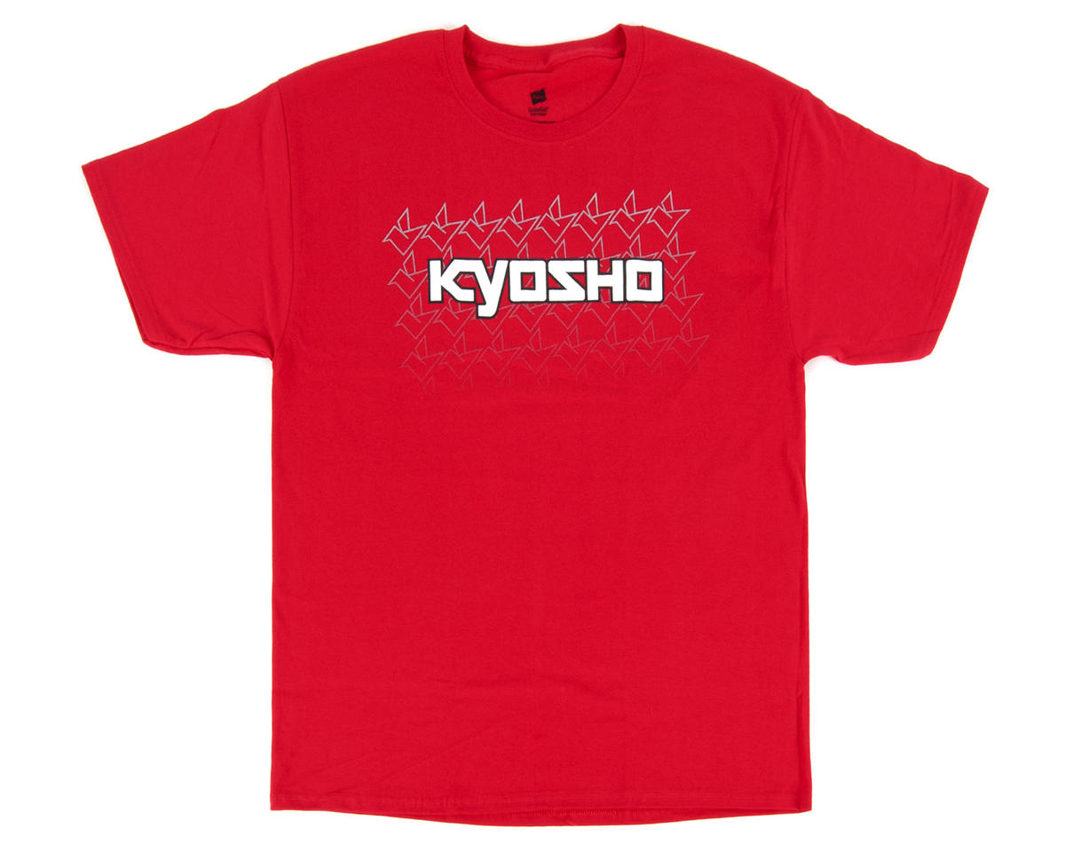 "Kyosho ""K Fade"" Short Sleeve Red T-Shirt (Large)"