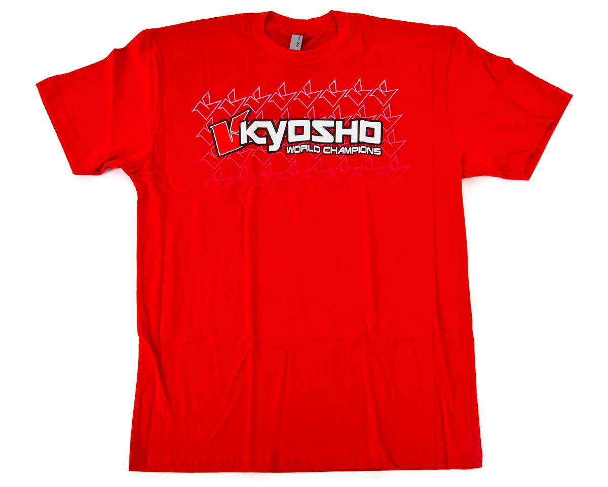 "Kyosho ""K Fade"" 2.0 Short Sleeve T-Shirt (Black) (Red) (M)"