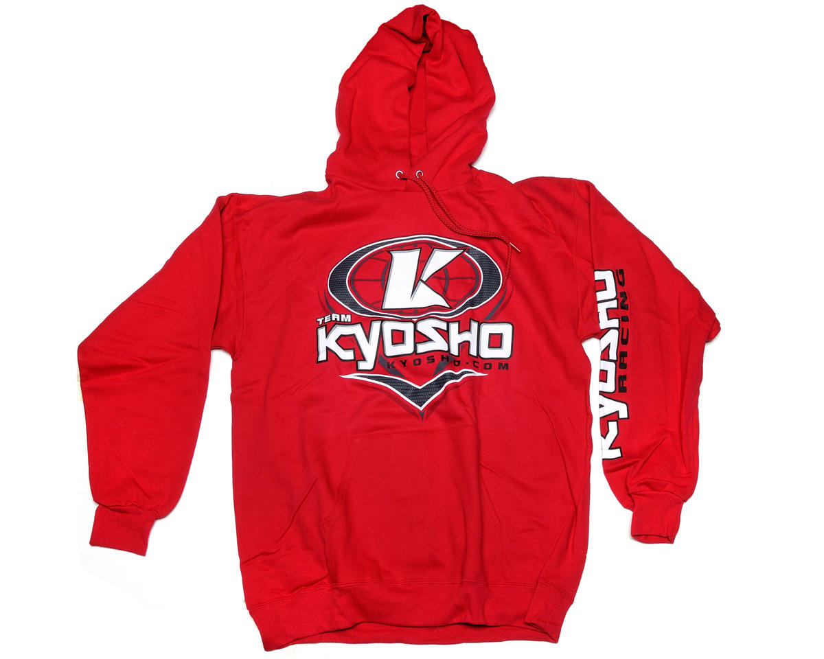 "Kyosho ""K-Oval"" Red Hooded Sweatshirt (Small)"