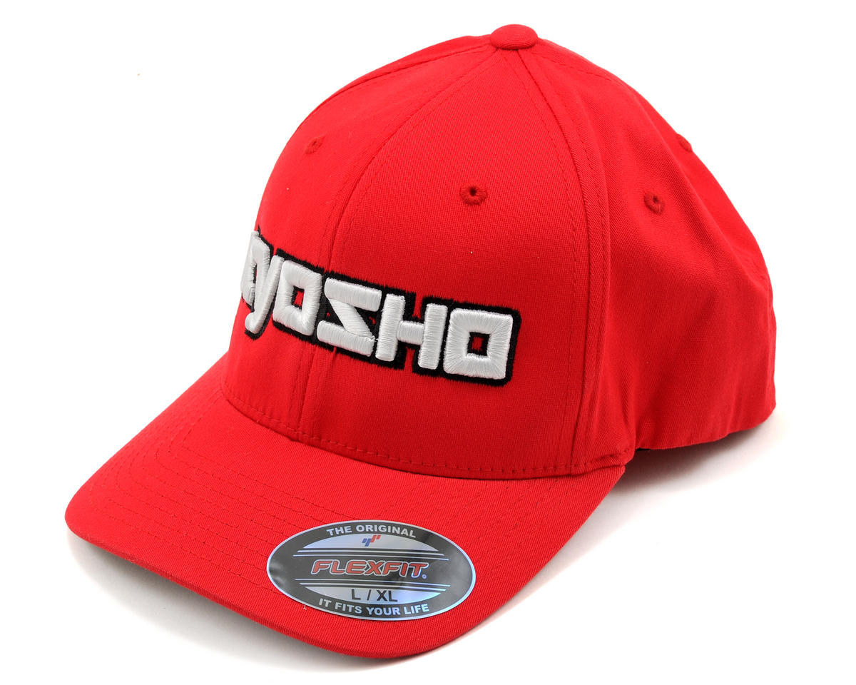 "Kyosho ""3D"" Flexfit Hat (Red) (L/XL)"