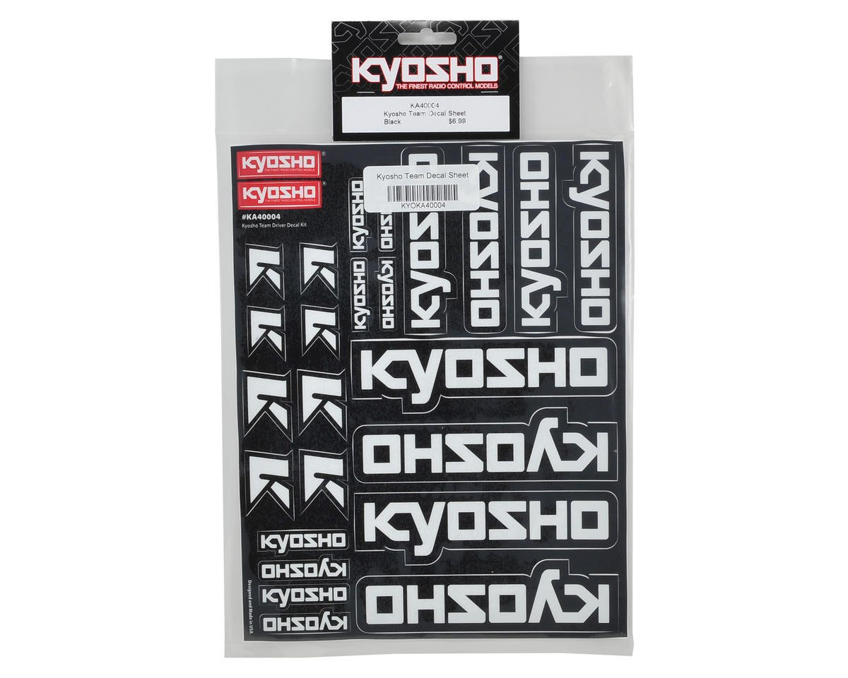 Kyosho Team Decal Sheet
