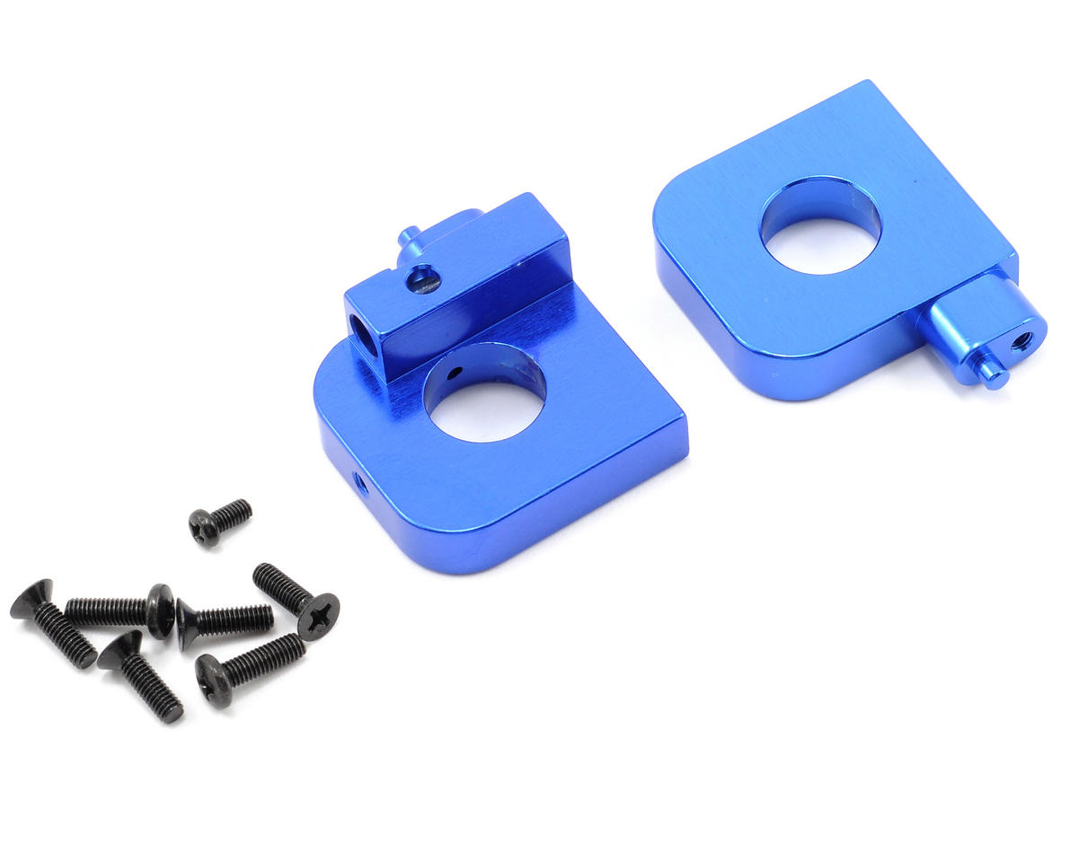Kyosho Aluminum Rear Axle Mount (Left/Right) (Blue)