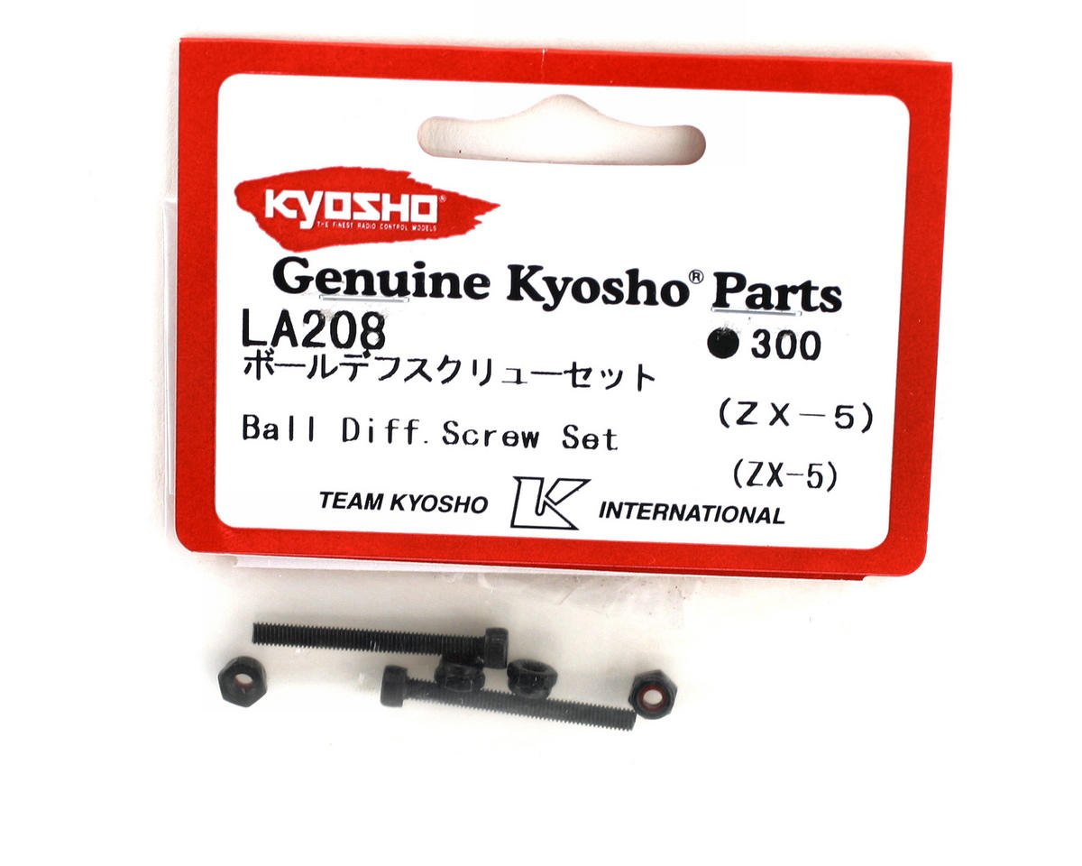 Ball Diff Screw Set (2) (ZX-5) by Kyosho