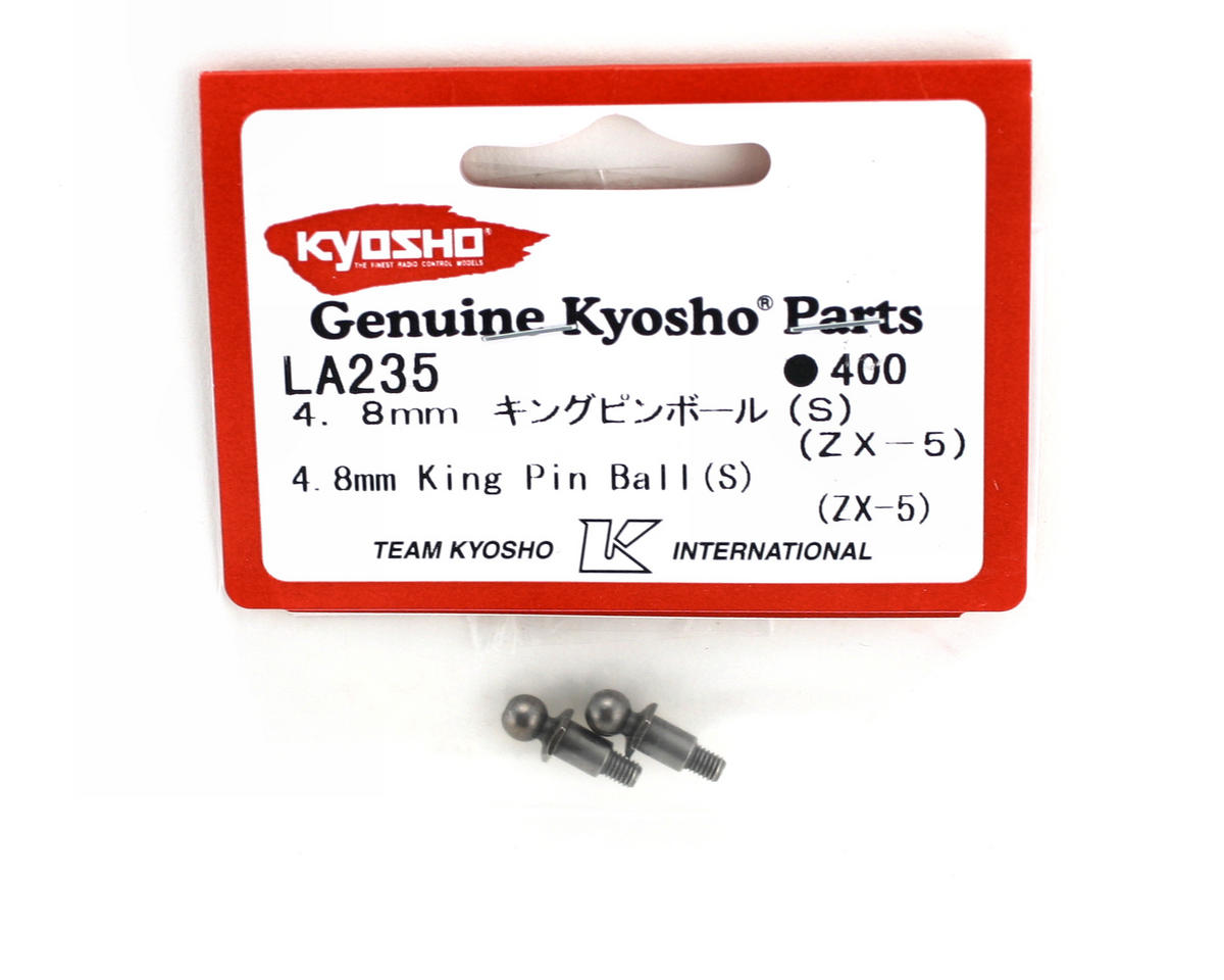 Short 4.8mm Steering Knuckle King Pin Balls (2) (ZX-5) by Kyosho