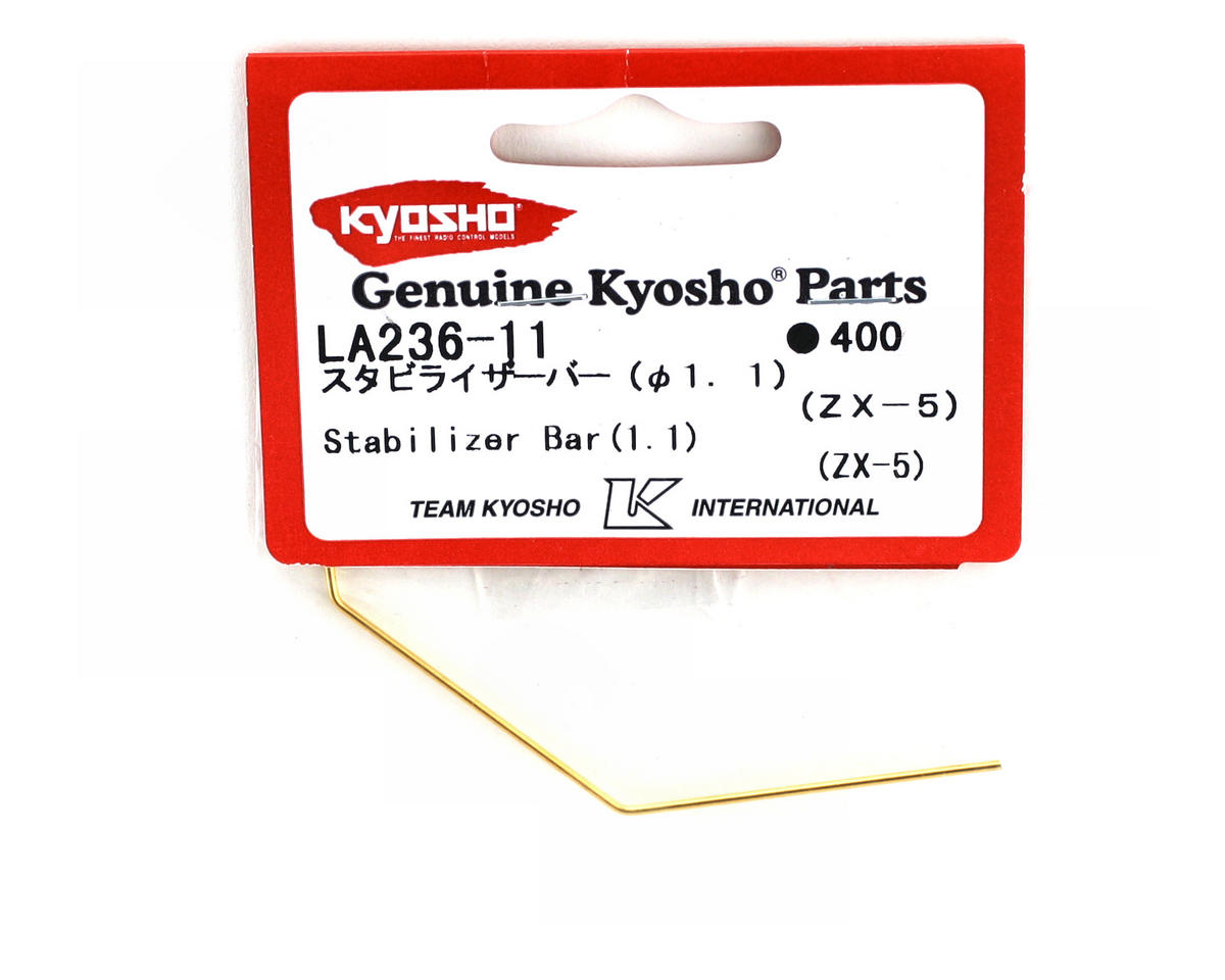 Kyosho Front or Rear Stabilizer/Sway Bar (1.1mm) (ZX-5)
