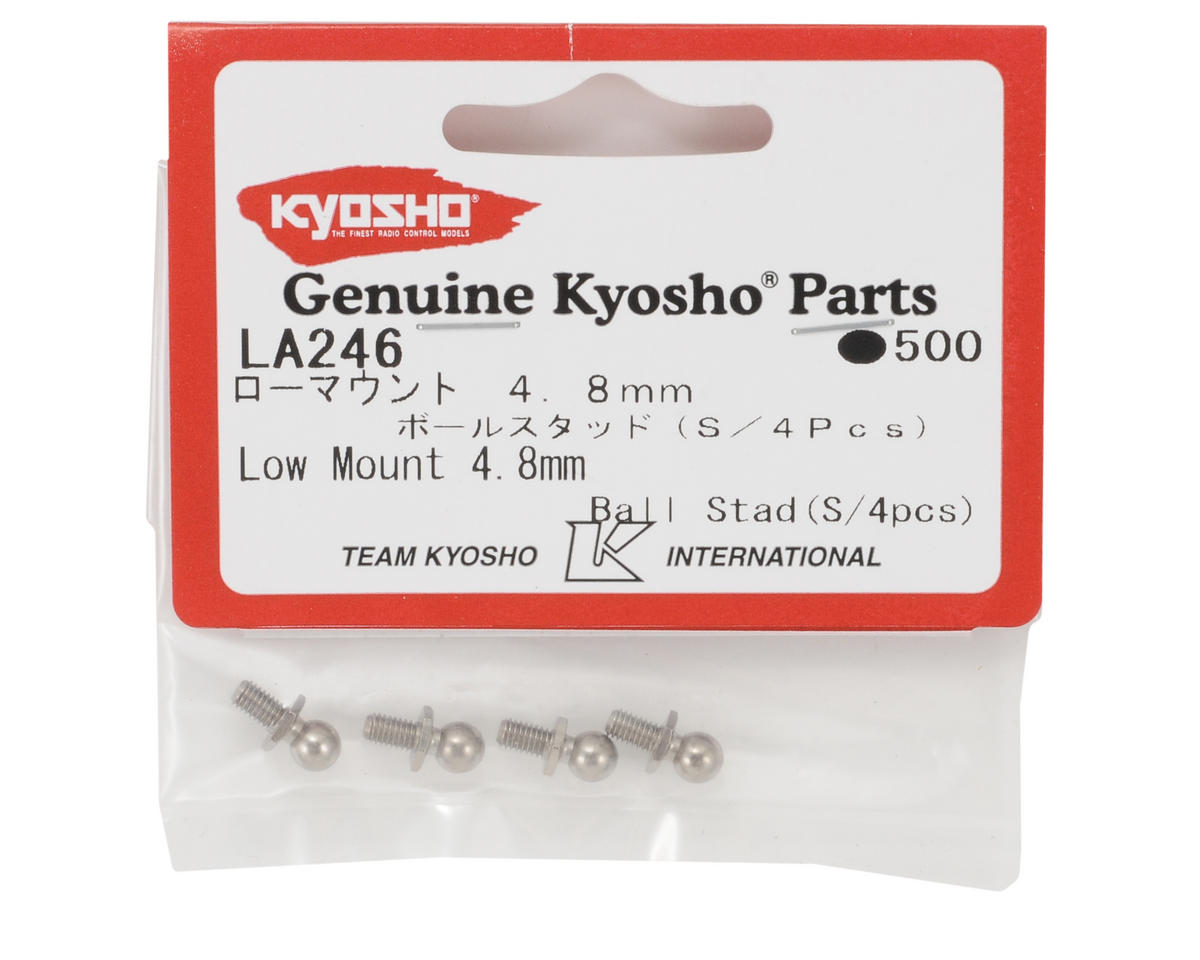 Kyosho 4.8mm Low Mount Ball Stud (4)