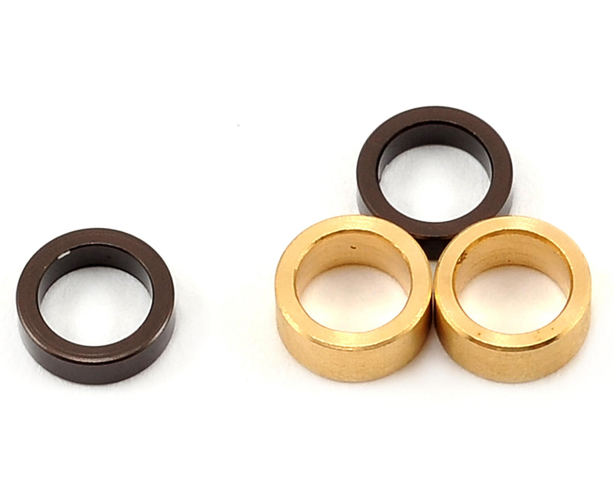 Kyosho Rear Hub Crush Tube & Axle Spacers (Gunmetal)