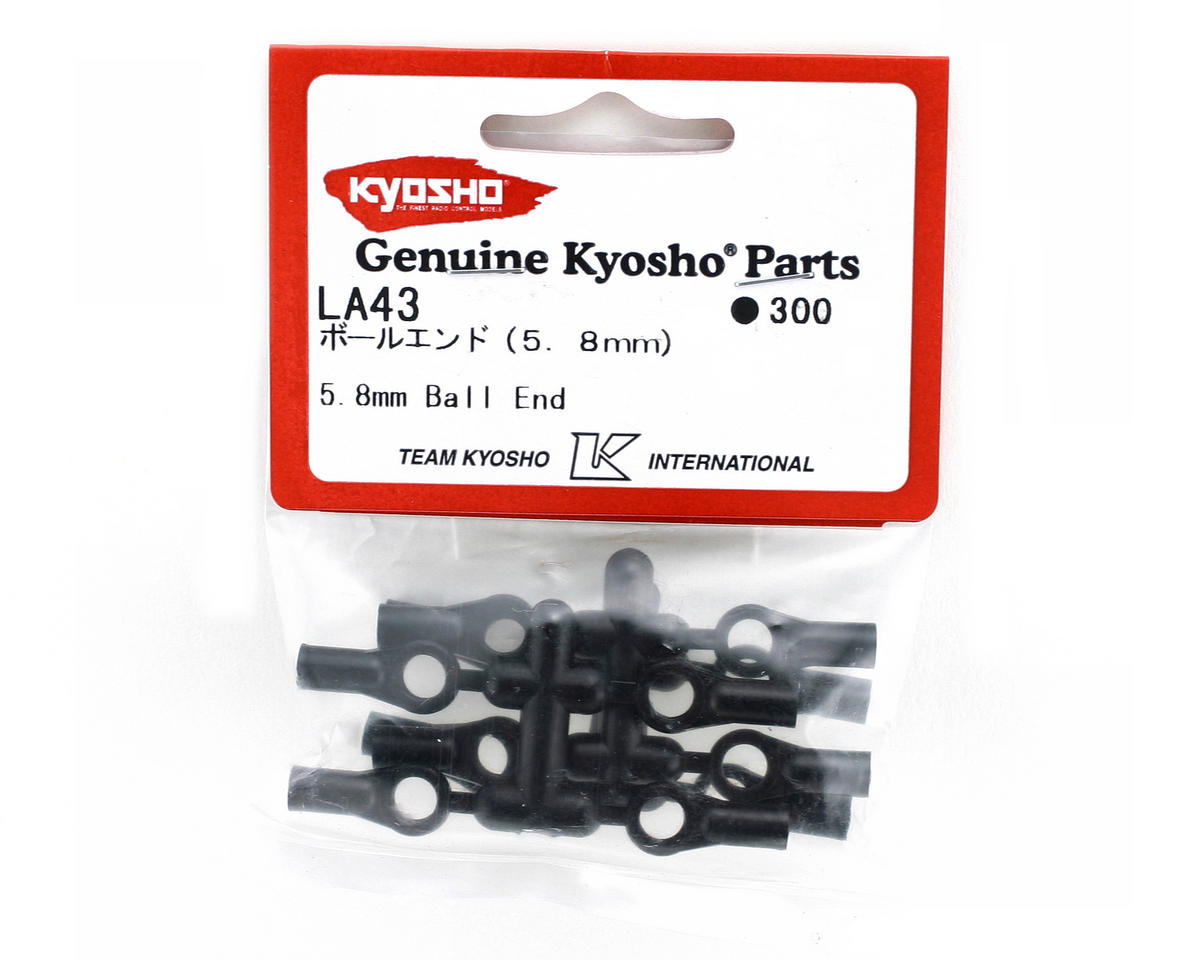 Kyosho Long 5.8mm Plastic Ball Ends (12)