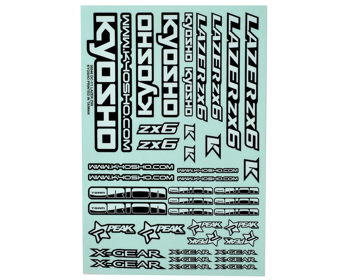 Kyosho Lazer ZX-6 Decal Sheet