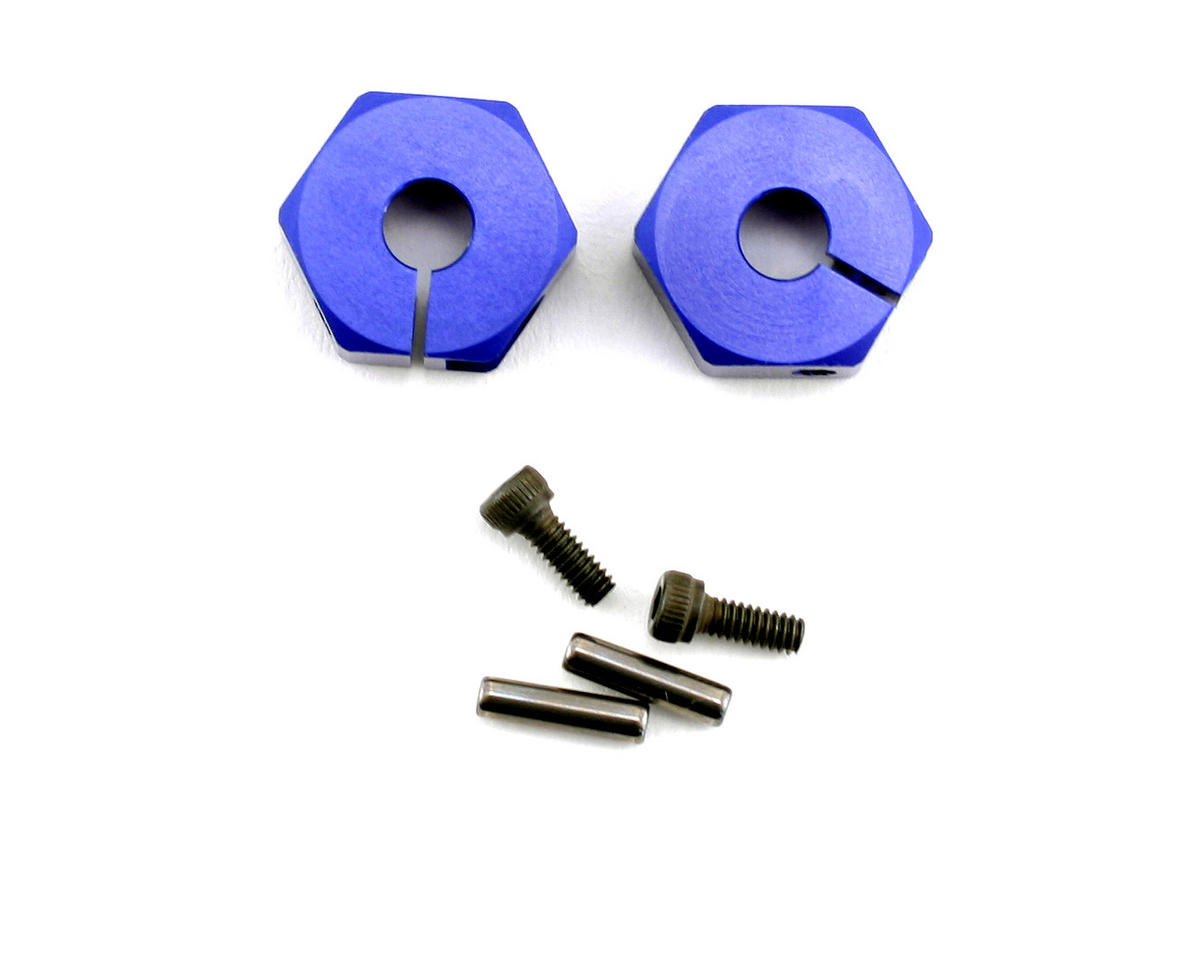 Kyosho Clamp Wheel Hub (Blue) (2)