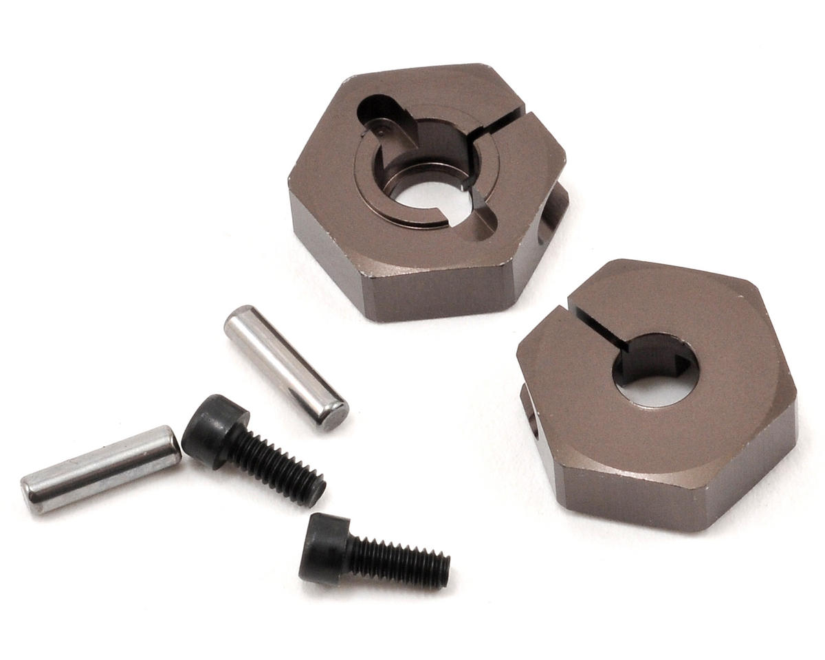 Kyosho Ultima DB Clamping Wheel Hub Set (Gunmetal) (2)