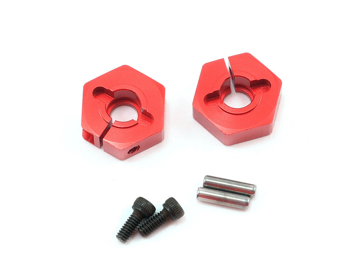 Kyosho TF-5 Stallion Clamp Wheel Hub (Red) (2)