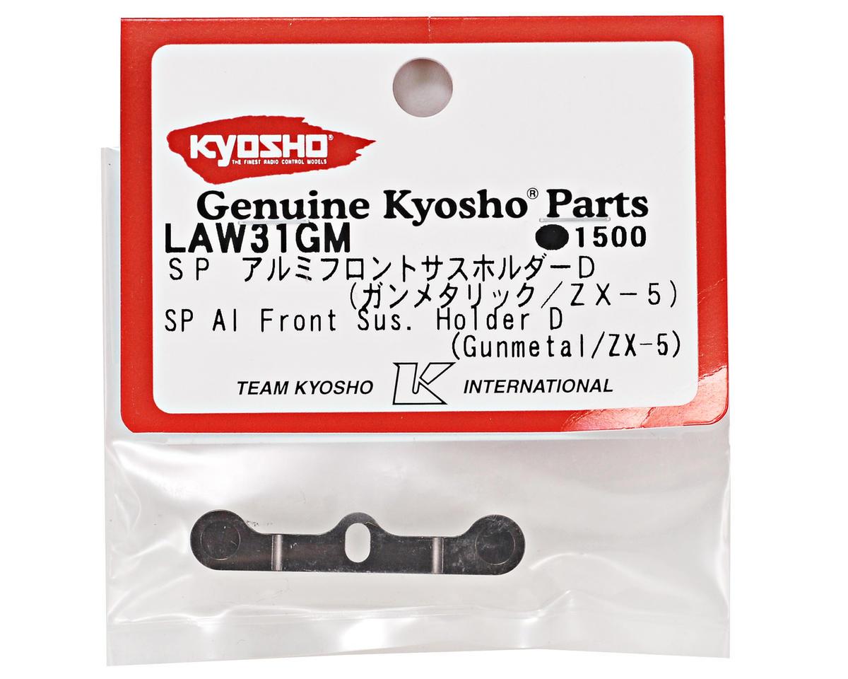 """Kyosho SP Aluminum """"D"""" Front Suspension Holder (Gunmetal) (FS2 SP)"""