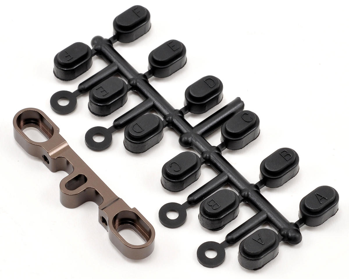 Kyosho Aluminum Rear/Outer Suspension Holder (Gunmetal) (FS2 SP)