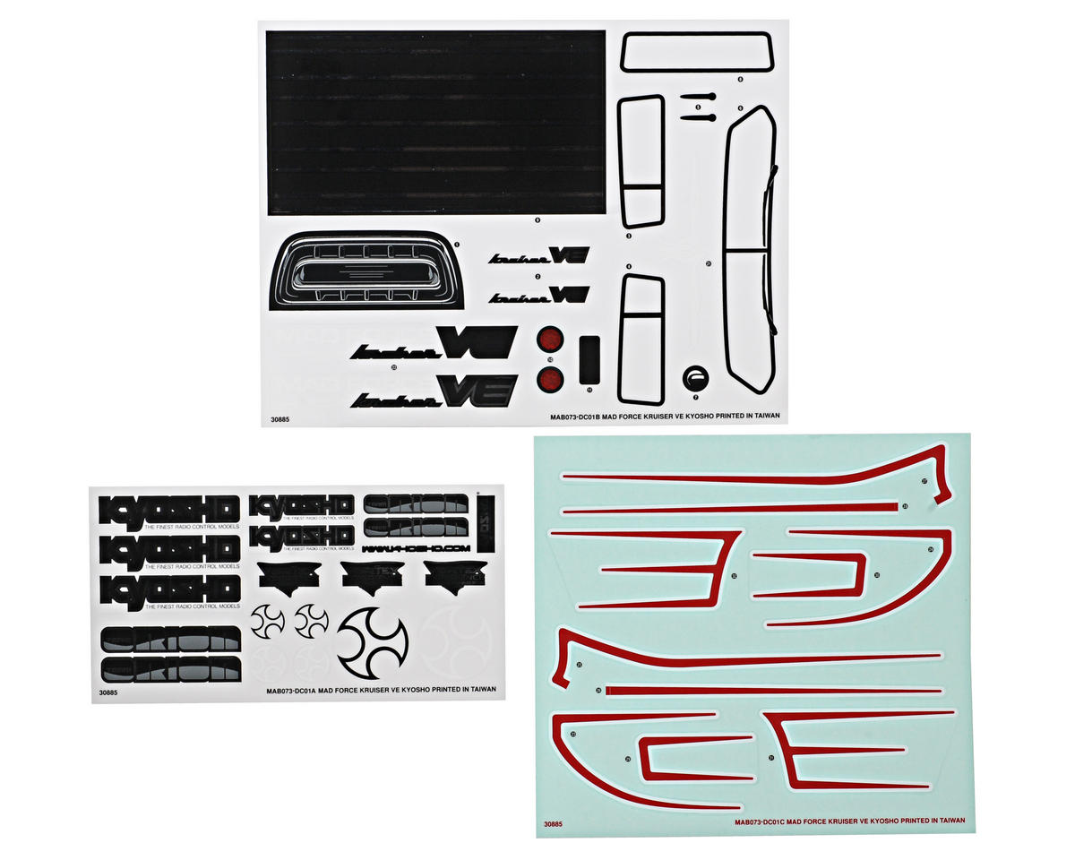 Kyosho Mad Force Kruiser VE Decal Set