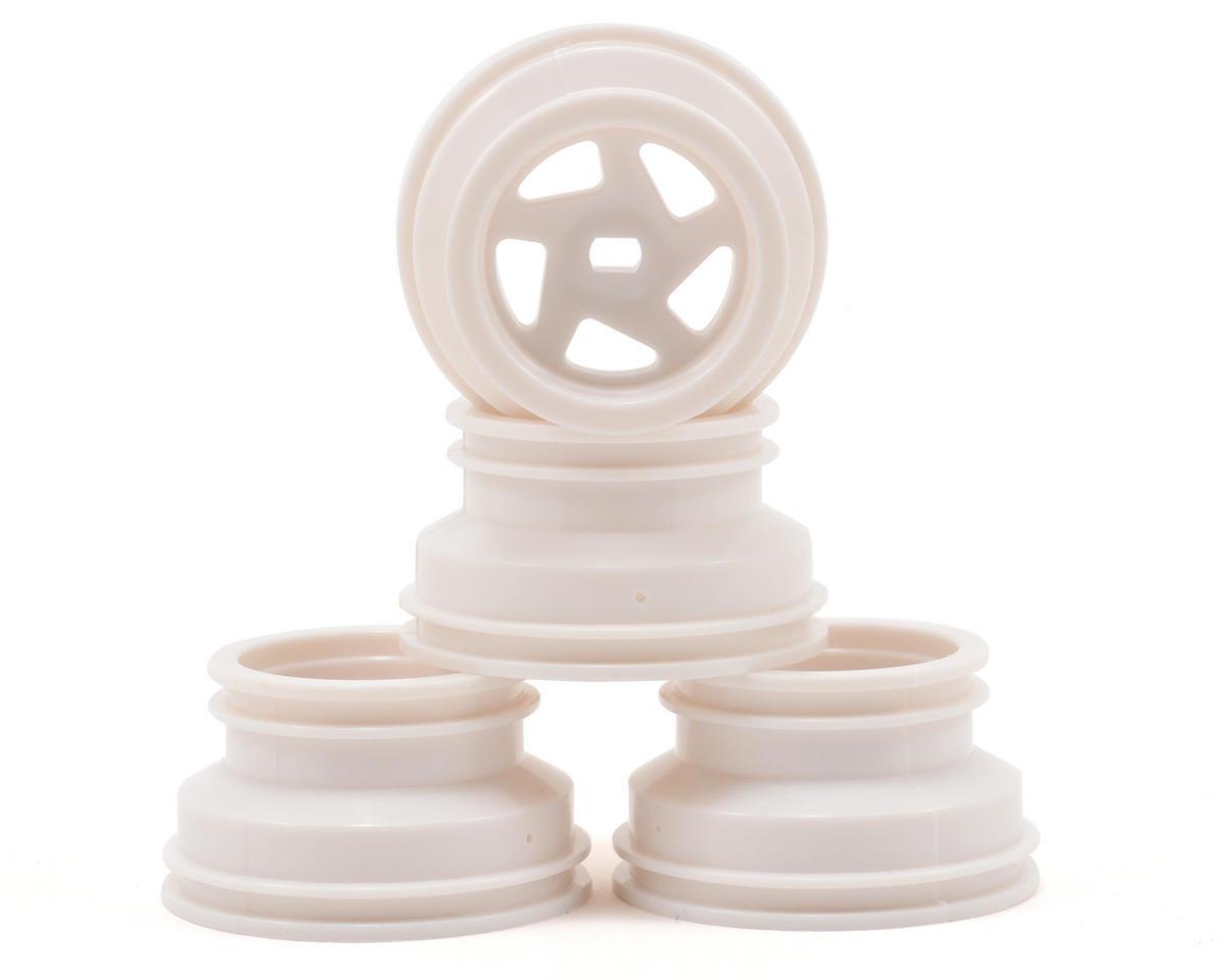 Mini-Z Optima Wheel Set (4) (White) by Kyosho