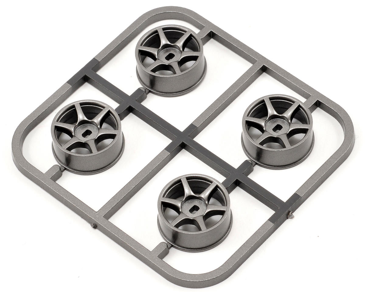 Kyosho MA-010/MA-015 Skyline R34 AWD Wheel Set (4) (Gun Metal)