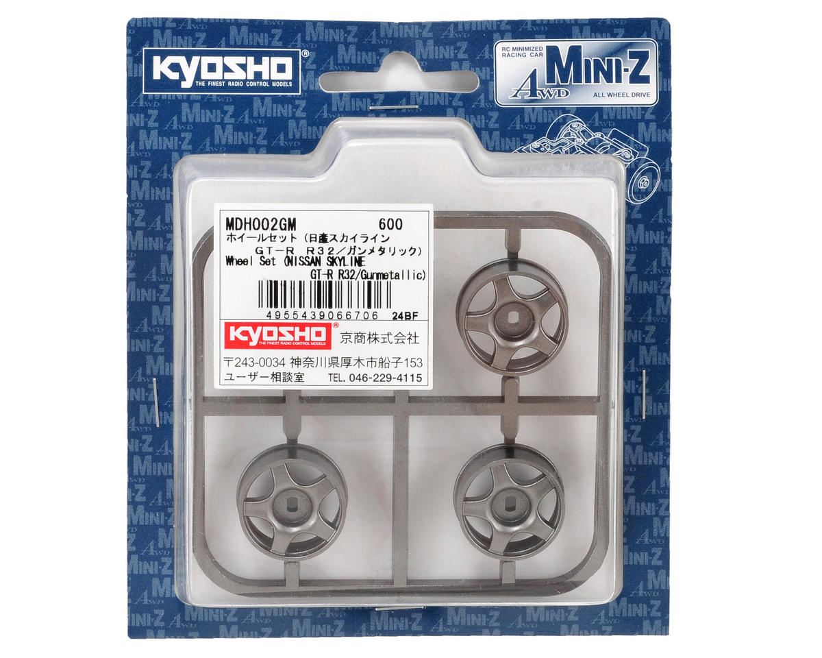 Kyosho Skyline R32 AWD Wheel Set (4) (Gun Metal)