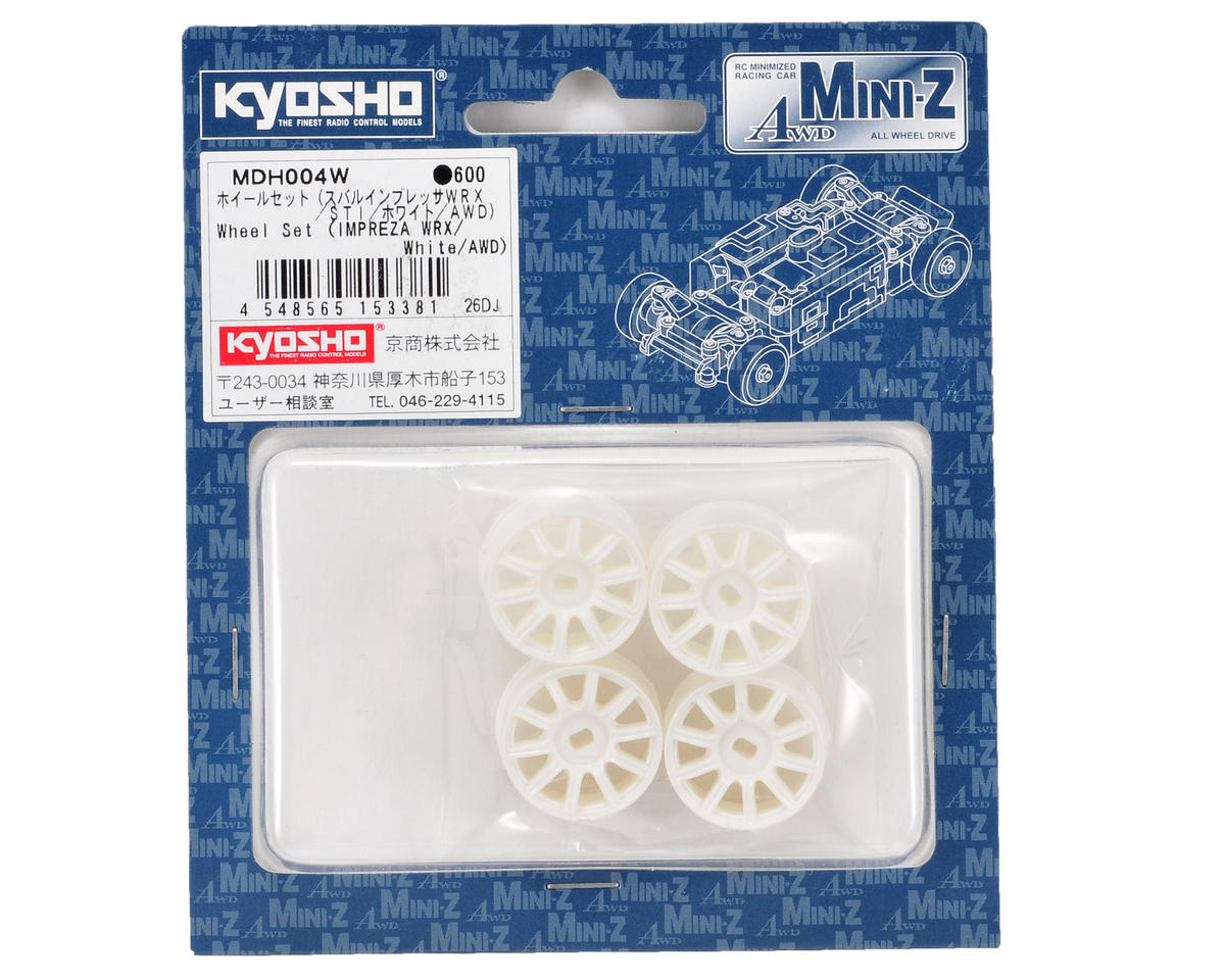 Kyosho Impreza AWD Wheel Set (4) (White)