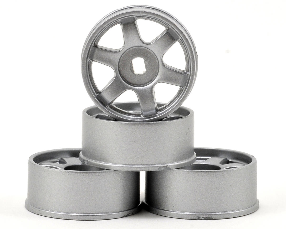 Kyosho MA-010/MA-015 6-Spoke AWD Wheel Set (4) (Silver)