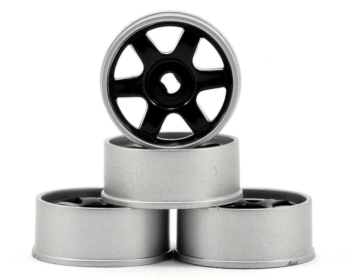 Kyosho 6-Spoke AWD Wheel Set (4) (Black/Silver)