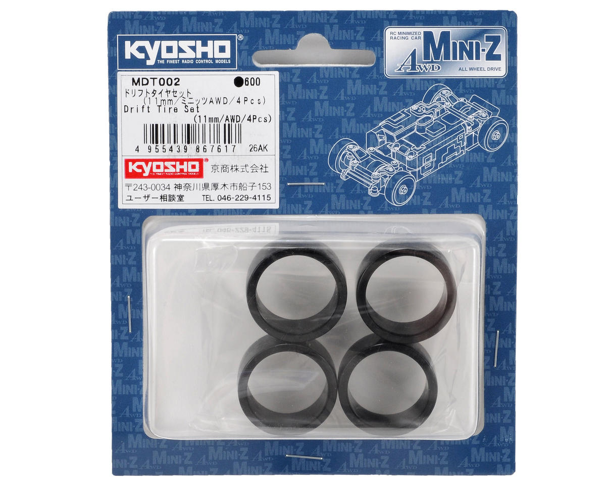 Kyosho 11mm AWD Drifting Tire Set (4)