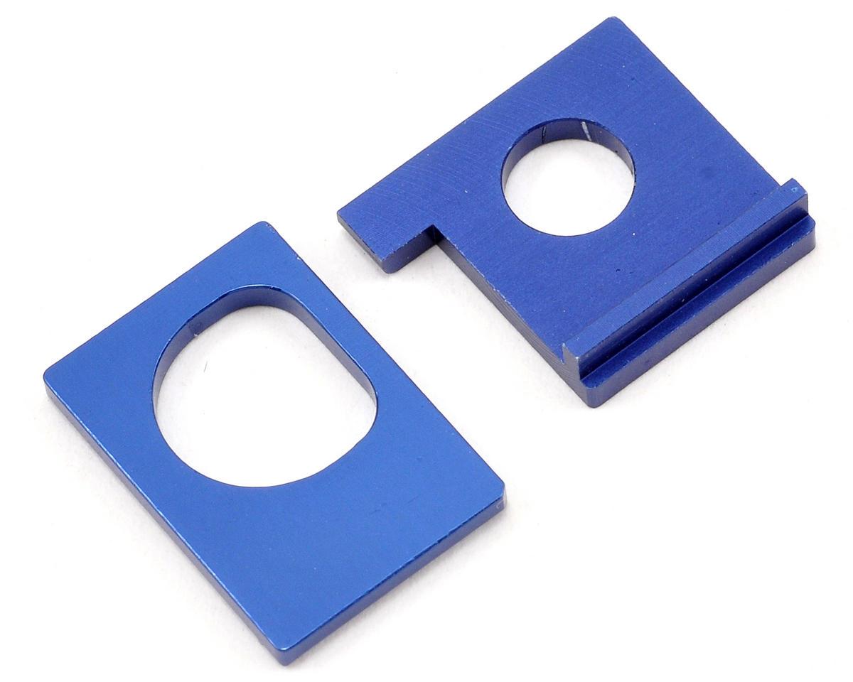"""Kyosho Aluminum AWD """"A1/B1"""" Motor Holder Set (Blue)"""