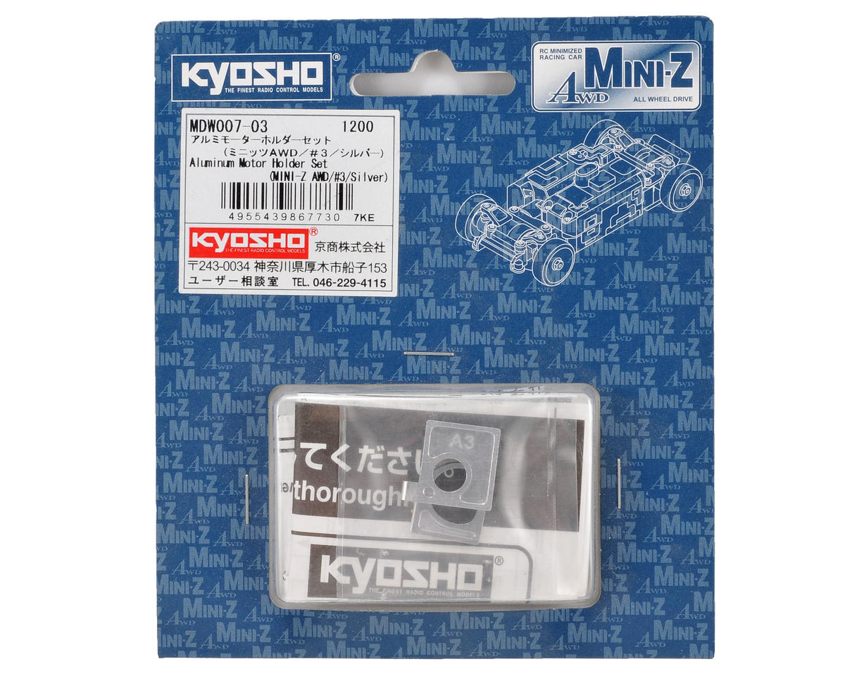 "Kyosho Aluminum AWD ""A3/B3"" Motor Holder Set (Silver)"