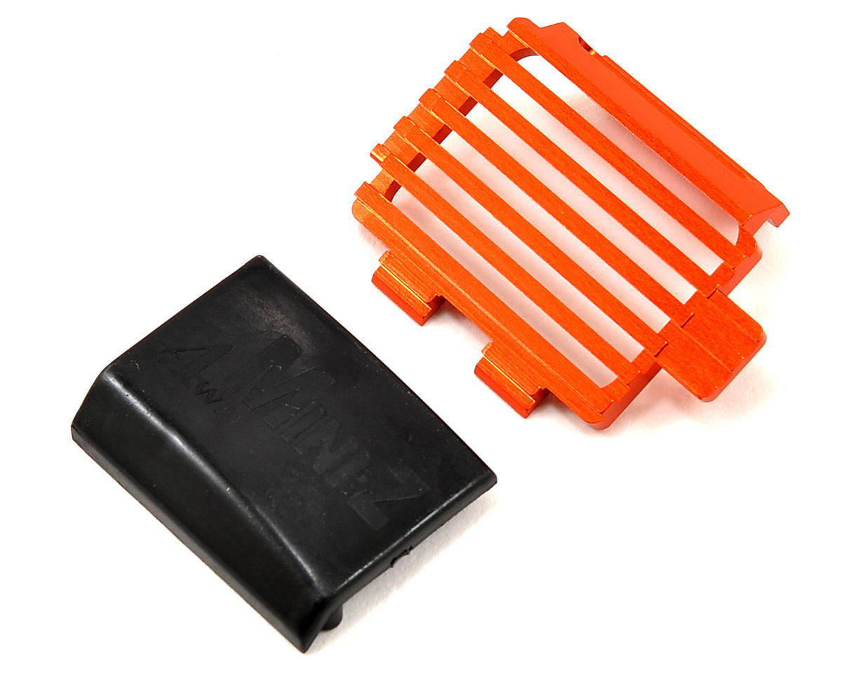 Aluminum Motor Cover (Orange) by Kyosho