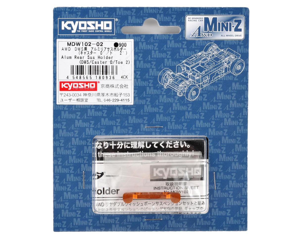 Kyosho Aluminum DWS Rear Suspesion Holder (Caster 0°/Toe 2°)