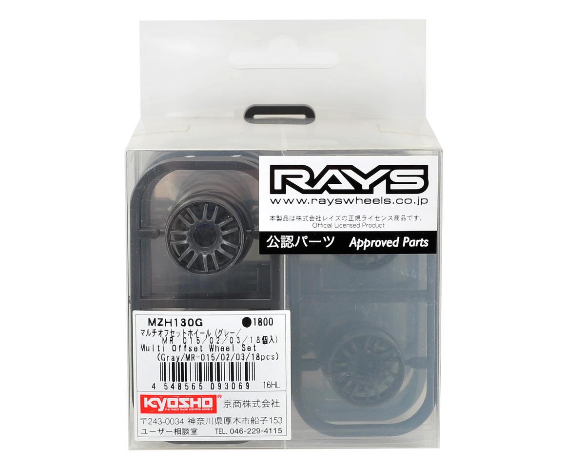 Kyosho RAYS RE30 Multi Offset Wheel Set (18) (MR-015/02/03) (Gray)