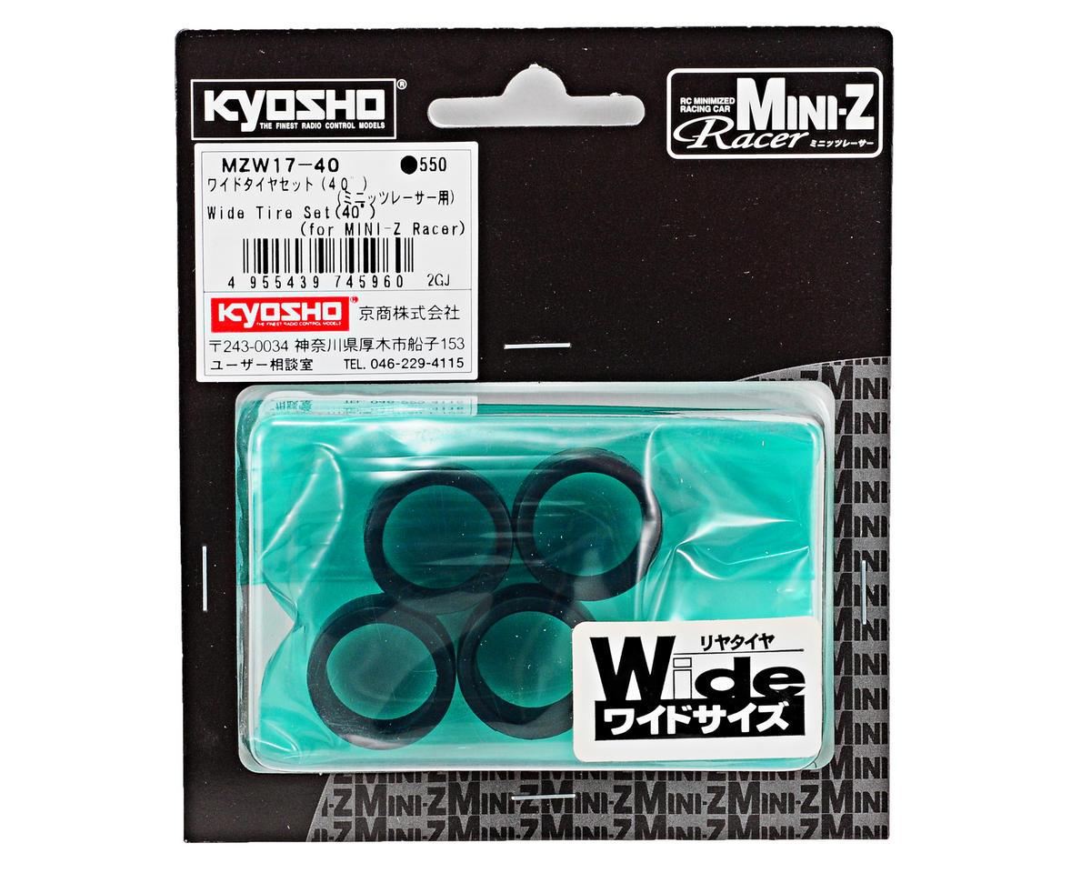 Kyosho 11mm Wide Tire Set (4) (40 Shore)