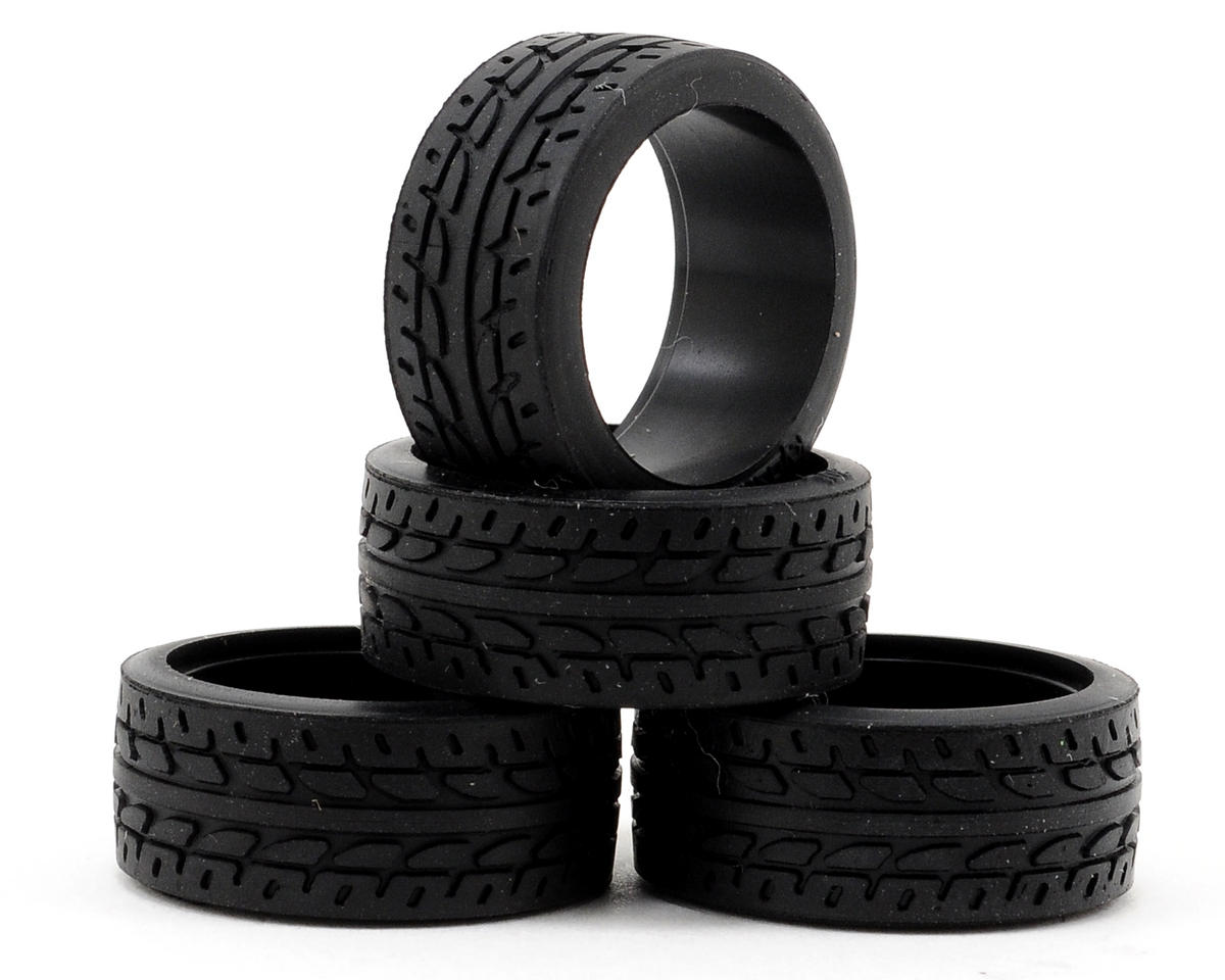 8.5mm Racing Radial Tire (4) (30 Shore) by Kyosho