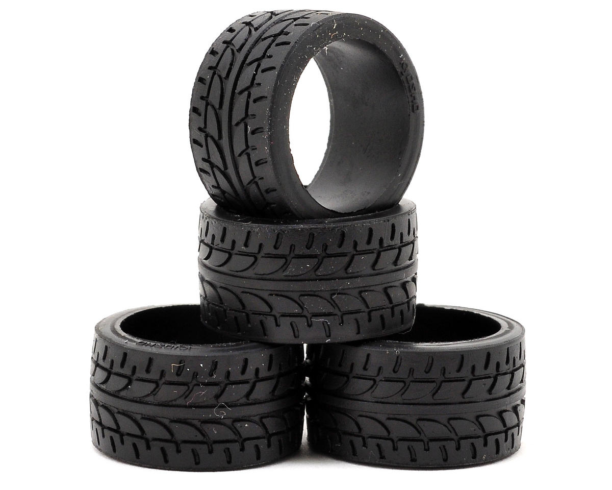 11mm Wide Racing Radial Tire (4) by Kyosho